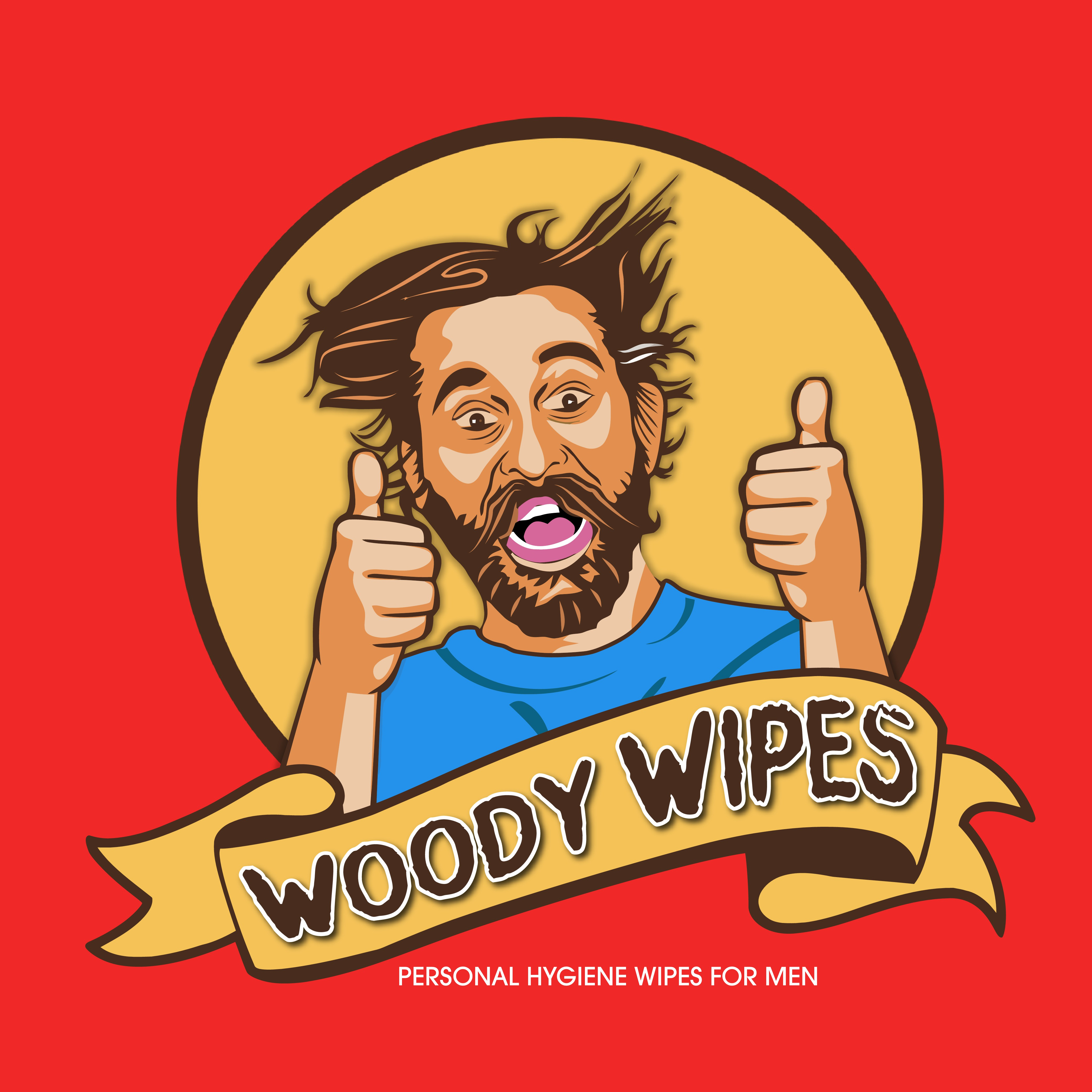 Woody Wipes Logo Design