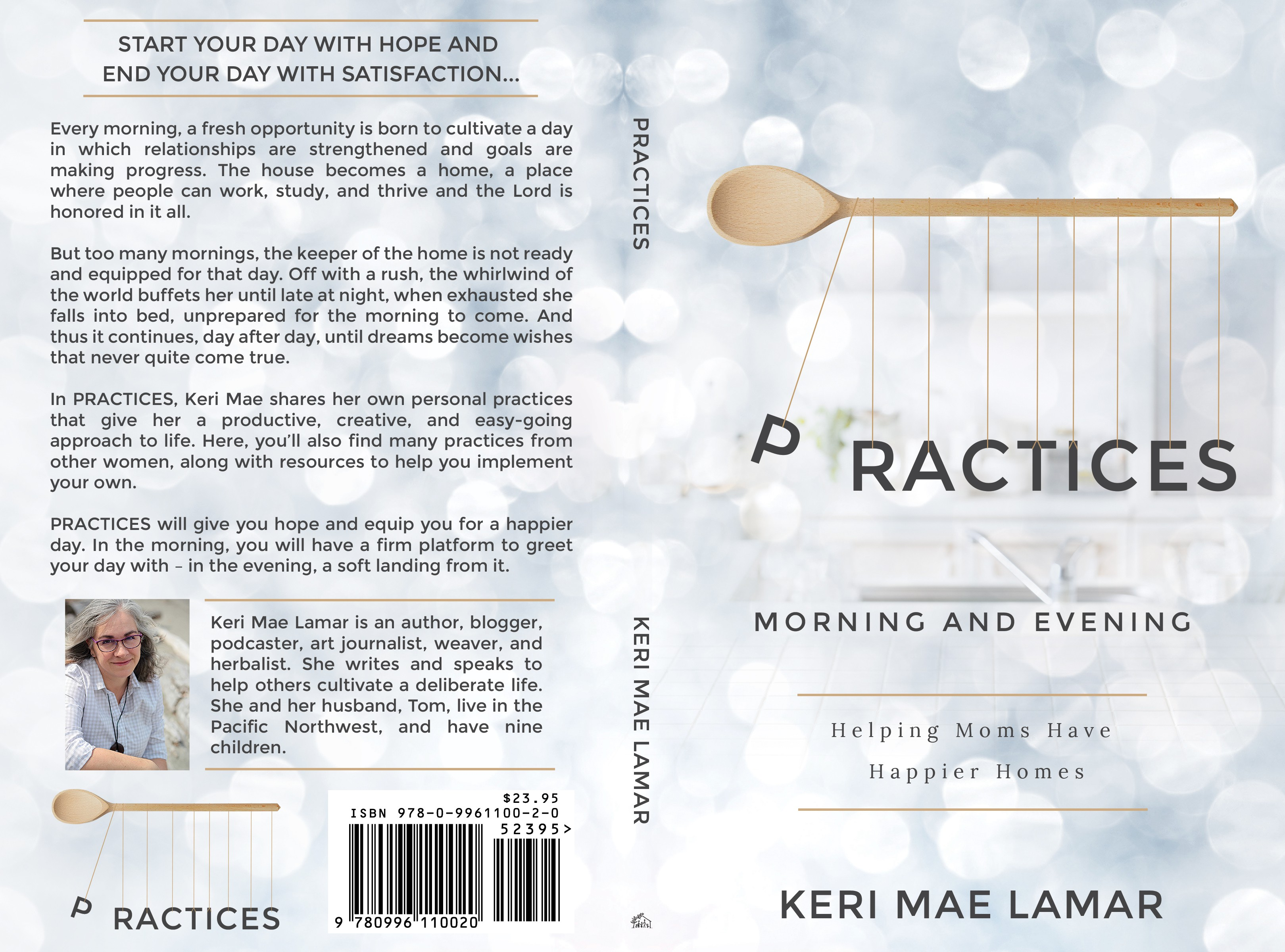 a compelling book cover for PRACTICES