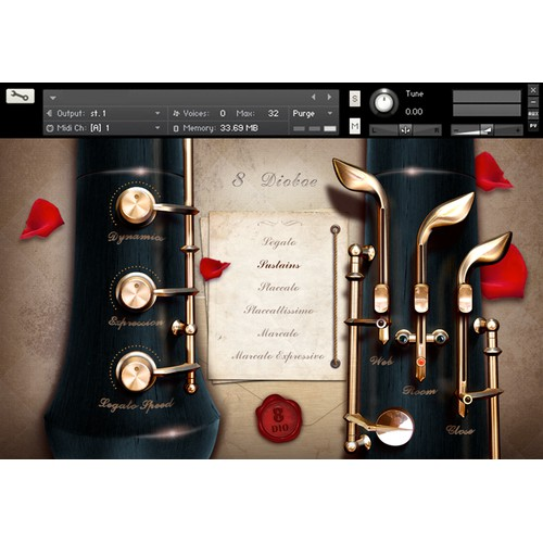 User Interface (UI) for Music Software Instrument