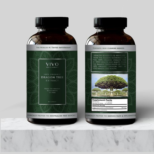 Label Design for Dragon Tree Extract Capsules