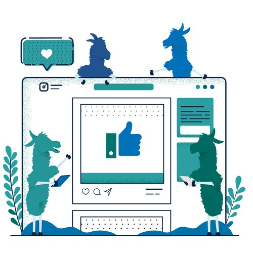 Illustration for Marketing Company