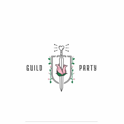 Fun and Unique Logo for Guild Party