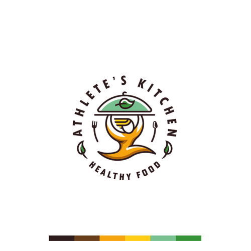 Logo concept for healthy food restaurant.