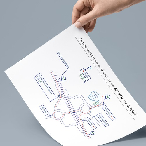 Direction design to a golf course