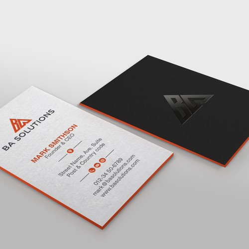 Powerful business card with a modern look