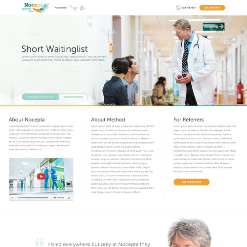 Modern website for a medical clinic