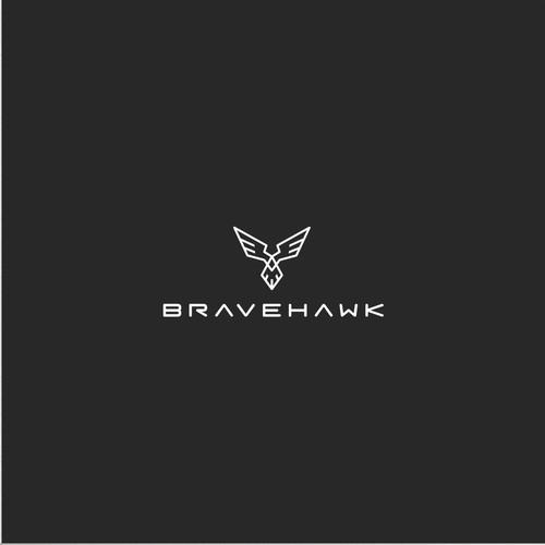 Modern  & Masculine Bravehawk Logo