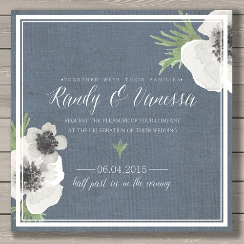 Create a modern, unique, and trend-forward wedding invitation.