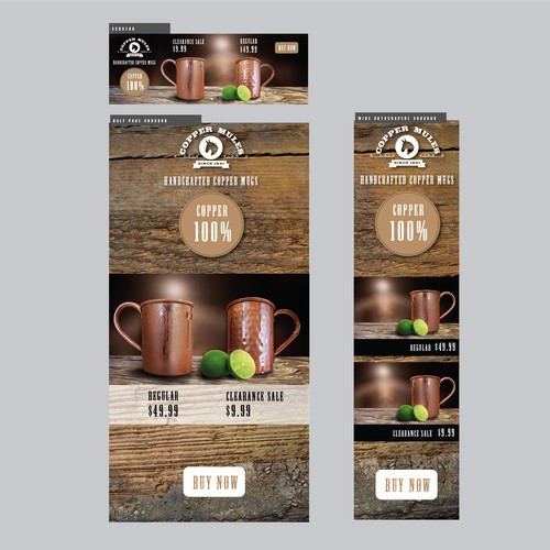 Google Banner Ads For Copper Mugs