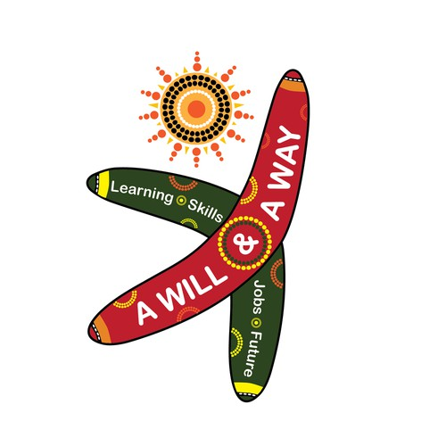 Create an Indigenous Australian symbol that illustrates a solid future for high school students