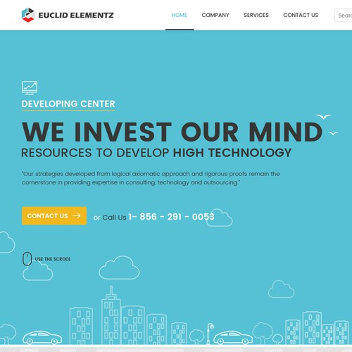 Web Page Design of a Managed Services Company