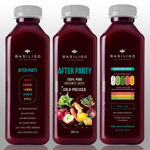 Organic Cold Press Juices Collection