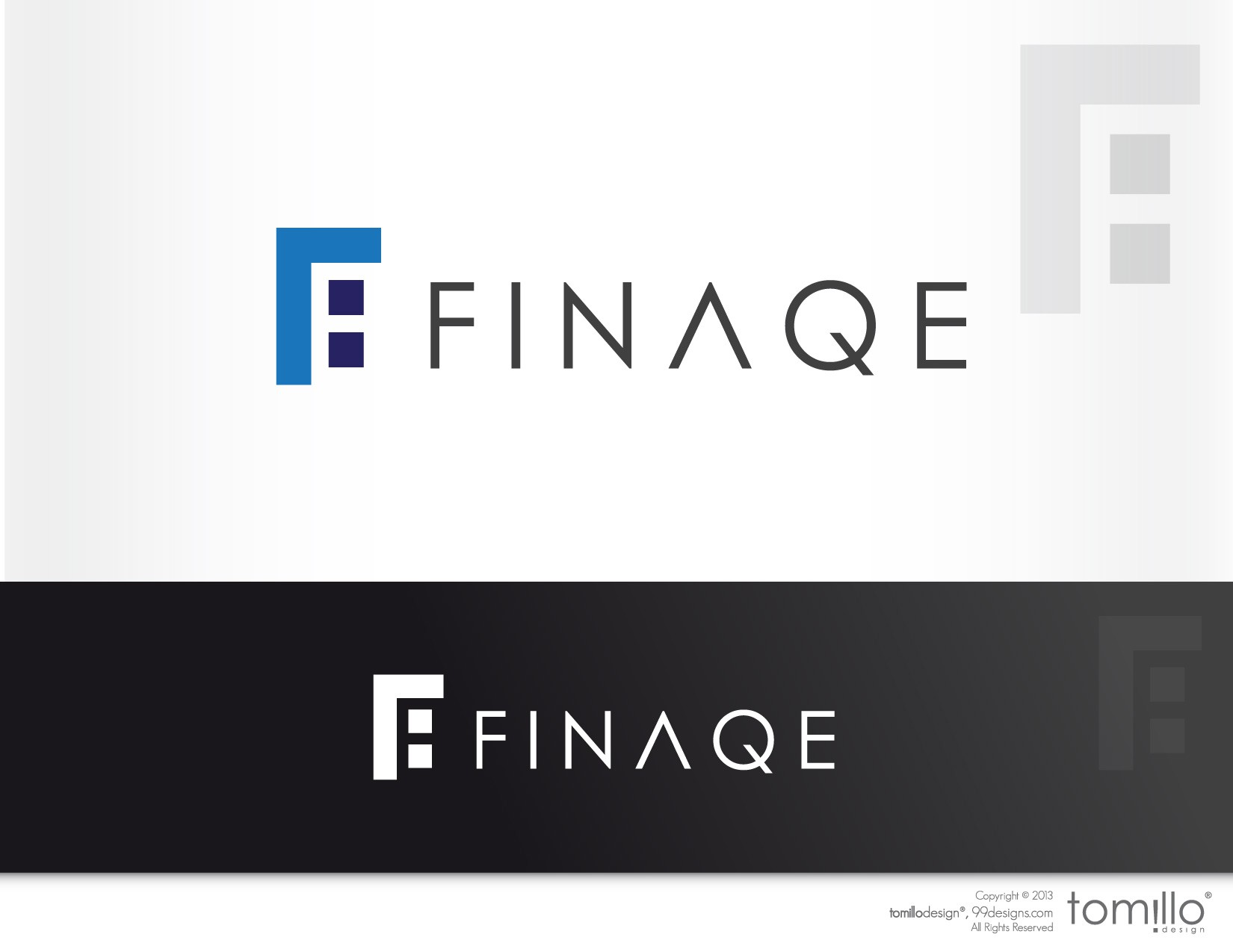 Logo for Finaqe, a financial services provider
