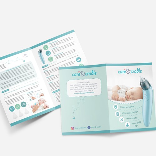 Baby product brochure