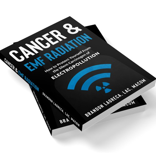Simple cover design about cancer and EMF radiation