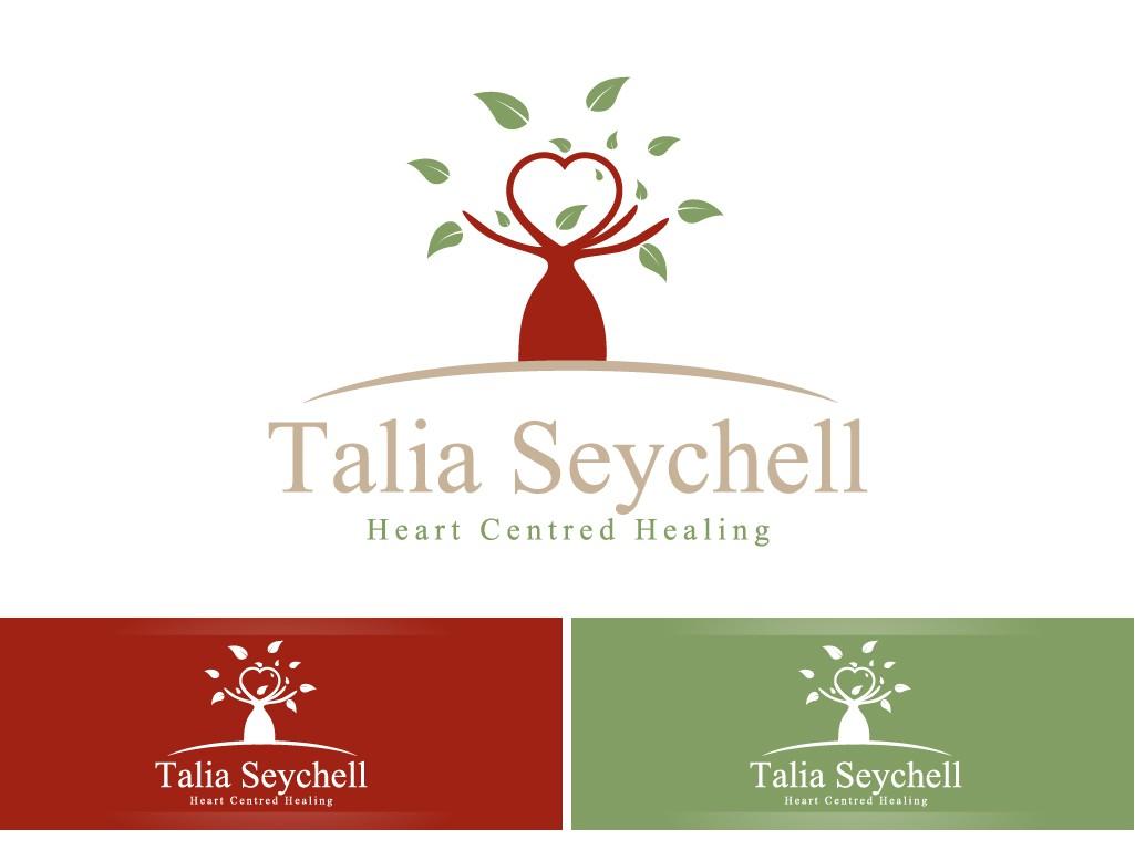 Create the next logo 'Talia Seychell' (my name) Heart centred healing (my slogan)