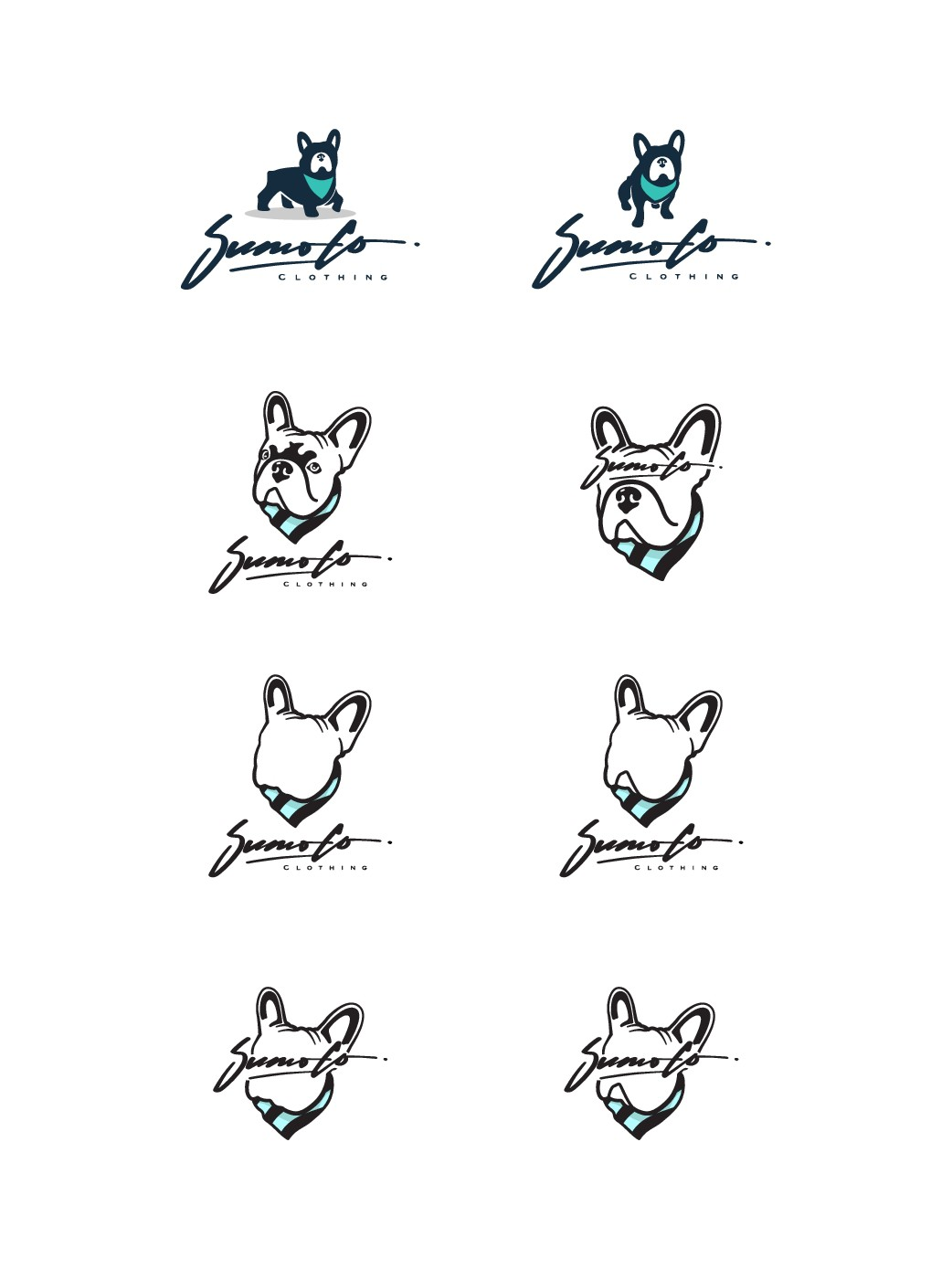 Design a hypebeast/streetstyle logo for Sumo Co. clothing brand - french bulldog is the focus!