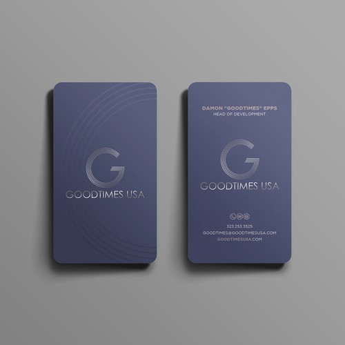 elegant business card for goodtimes usa.