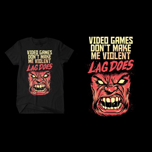 T-shirt for hardcore gamers