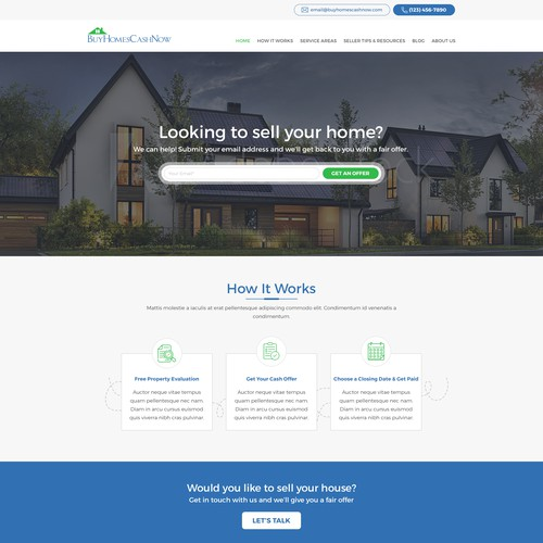 BuyHouseCashNow Real Estate Website