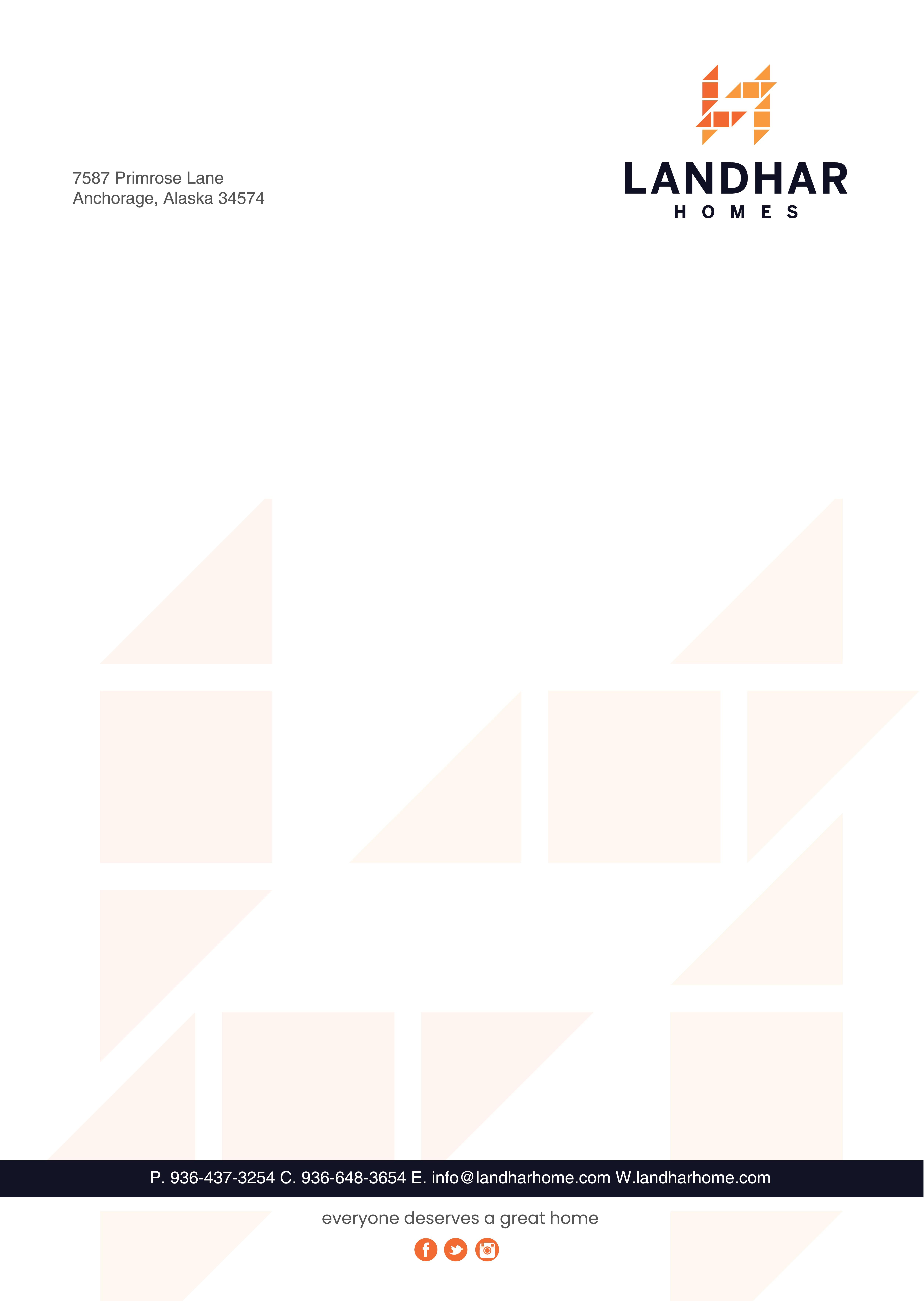 Letterhead and Document Portfolio for Home Builder