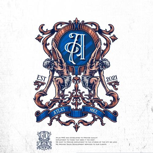 Coat of arms / crest atlas logo design