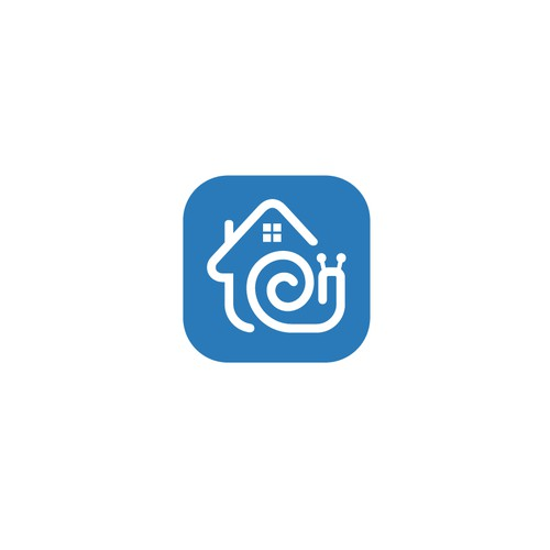 Creative app logo for real estate startup