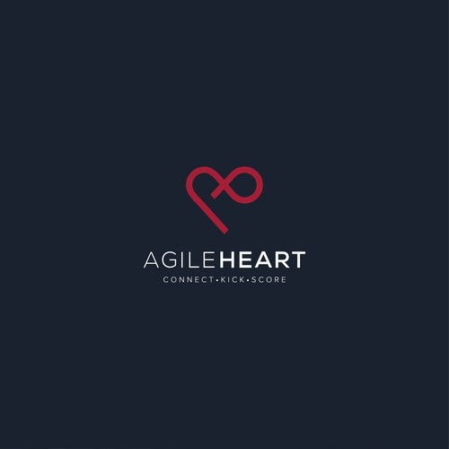 Logo design of the Agile Heart company