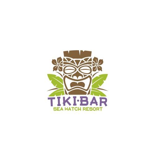Logo for an oceanfront tiki bar