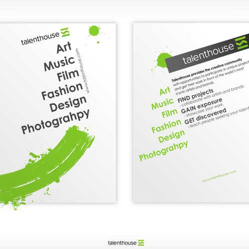 Designers: Get Creative! Flyer for Talenthouse...