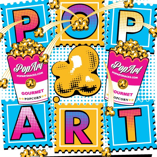 Design t-shirt for hip new Popcorn company called Pop Art