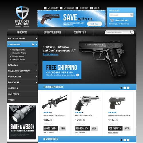 Create an Awesome Retail Site for Patriots Armory!!