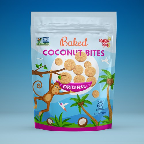 Packaging design for Coconut Snack