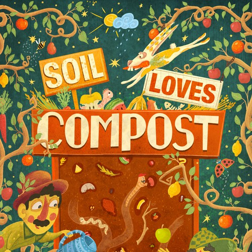 "Poster Design ""Soil loves compost"""