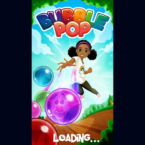 Loading screen for a mobile game