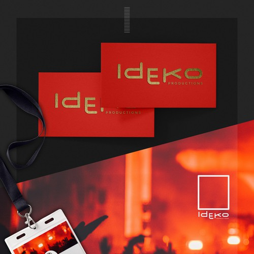 Distinctive wordmark for events productions company