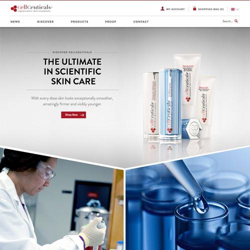 WebDesign for Cosmetic Cream