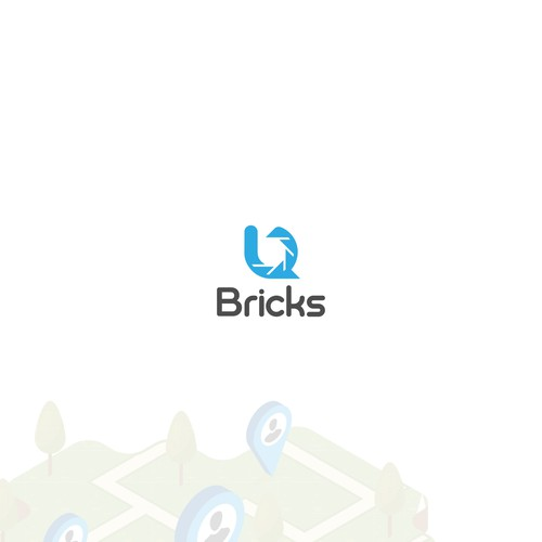 B initial Brick Photographer online logo concept