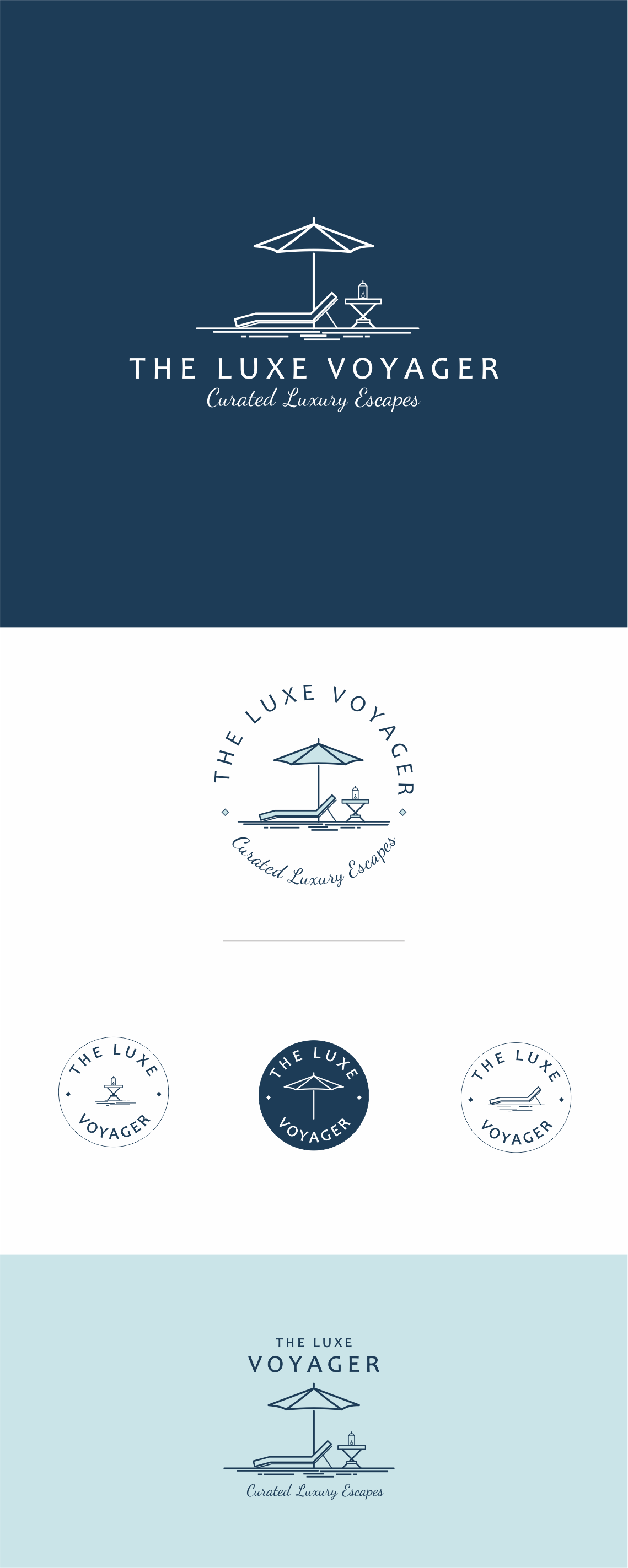 Create a captivating logo for a new luxury travel blog / online travel agency