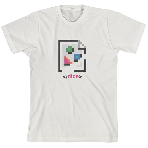 Broken Image Shirt Concept for Dice Technology Company