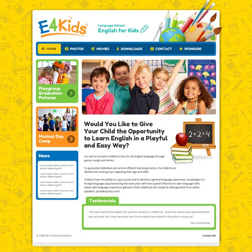 Website for English School for Kids !!