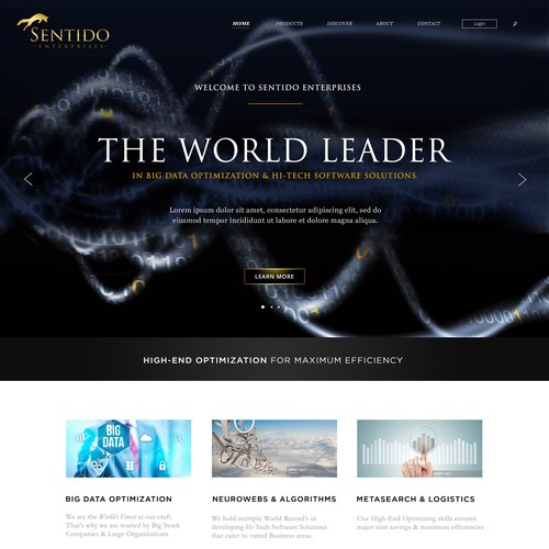 Hi-Tech & Classical Website Design for 'Sentido Enterprises'.