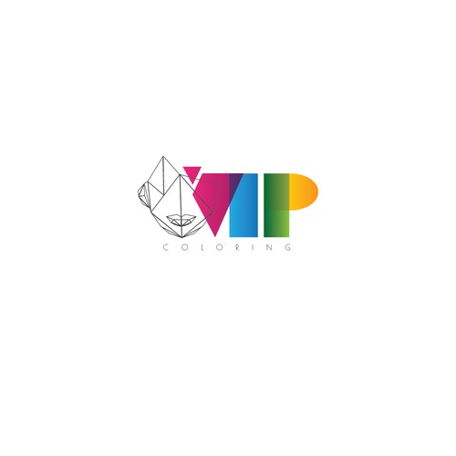 logo concept for vip coloring