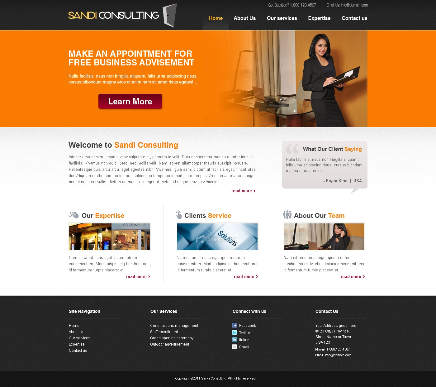 Help SANDI CONSULTING with a new website design
