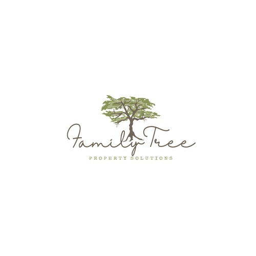 Design a modern and welcoming logo for Family Tree Property Solutions