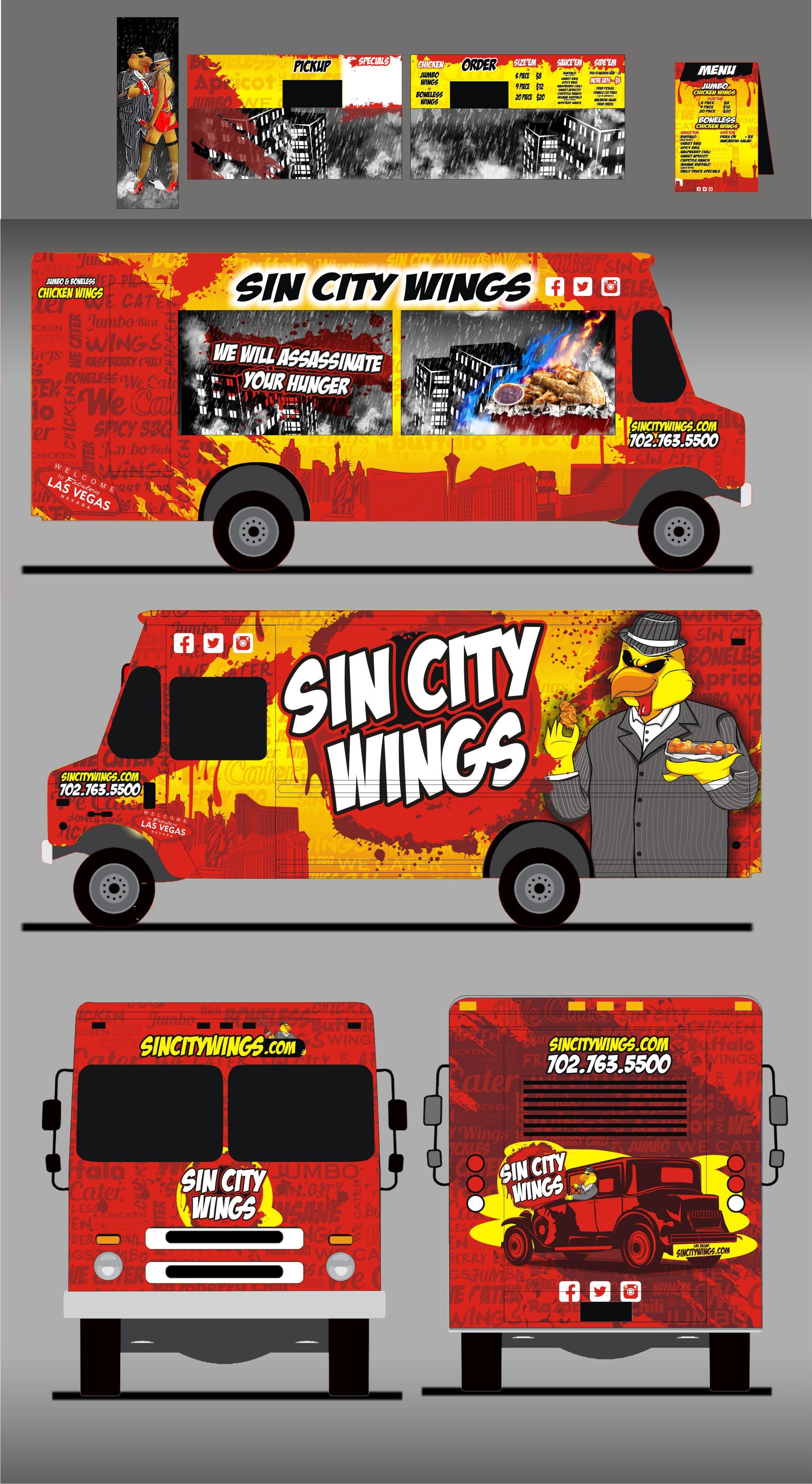 Sin City Wings - Food truck wrap for Las Vegas based truck