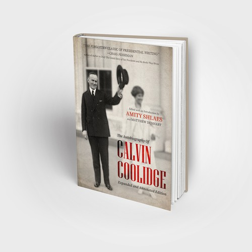 The autobiography of Calvin Coolidge book cover