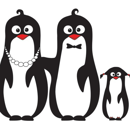 Simple, but classy, Cute Penguins wearing tuxcedo's that are serving you with priceless memory photo