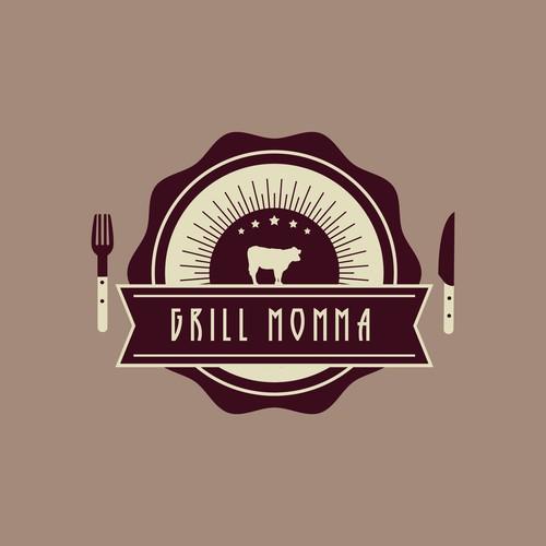 Logo for female griller