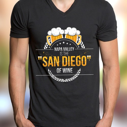 San Diego Beer T-shirt design needs to put Napa Valley in its place...